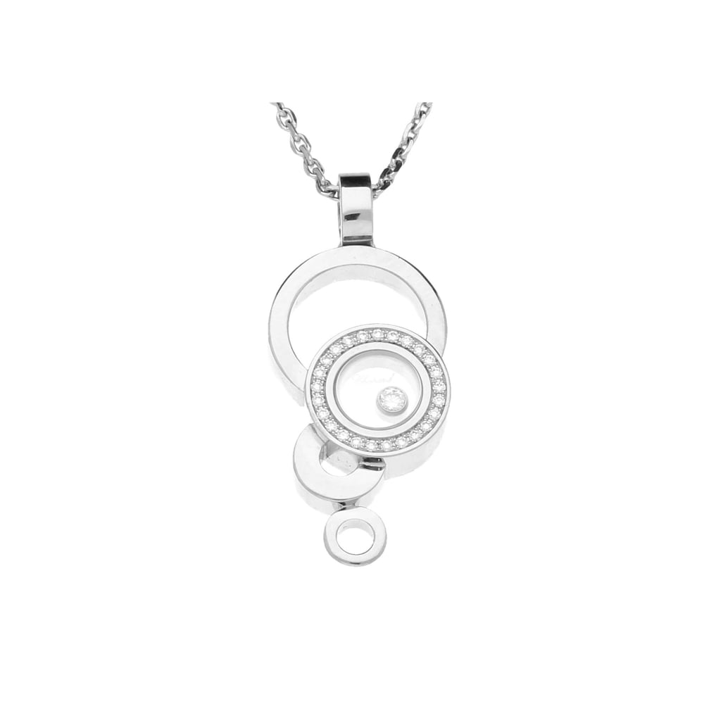 Secondhand chopard happy bubbles 18ct white gold diamond pendant chain chopard happy bubbles 18ct white gold diamond pendant amp aloadofball Image collections