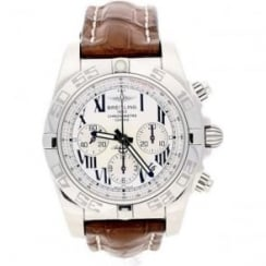 Chronomat B01 Watch - AB0110 - Brown Leather Strap - 2009