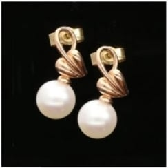 Clogau 9ct Rose Gold Pearl Earrings