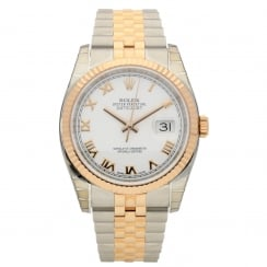 Datejust 116231 Everose & Steel, Unworn,White Roman Dial, 2014