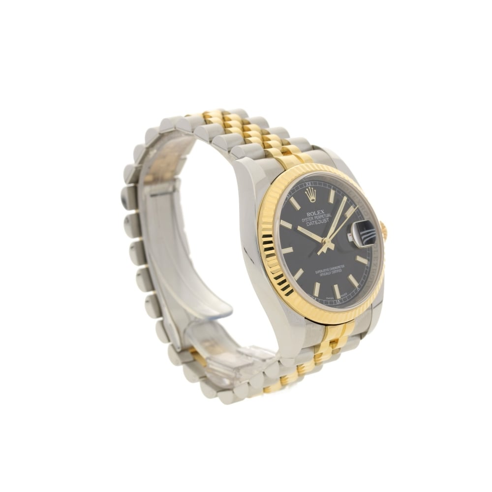 fluted dial gold datejust watch white s men bezel rolex wrj roman mens bracelet jubilee