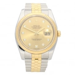Datejust 116233 - Gold Diamond Dial - 2010