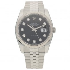Datejust 116234 - Gents Watch - Black & Diamond Dial - 2008