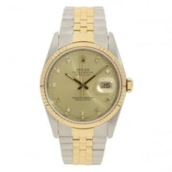 Datejust 16233 - Champagne Diamond Dial - 1990
