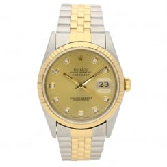 Datejust 16233 - Champagne Diamond Dial - 1995