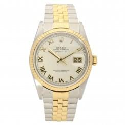 Datejust 16233 - Gents Watch - Cream Pyramid Dial - 2001