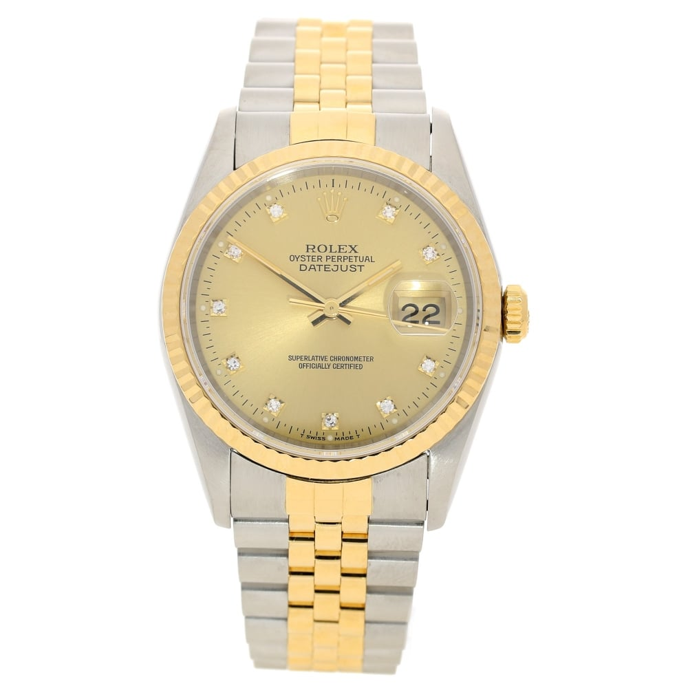 cff233ced45 Rolex Datejust 16233 - Gents Watch - Diamond Dial - 1993| Miltons ...