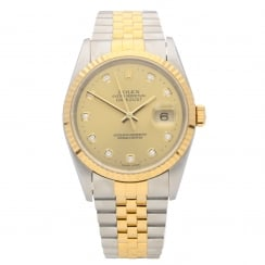 Datejust 16233 - Gents Watch - Diamond Dial - 1999