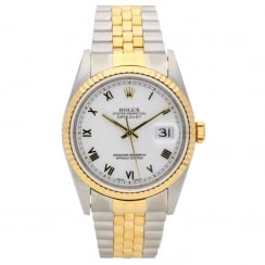 Datejust 16233 - Gents Watch - White Dial - 1999