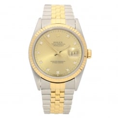 Datejust 16233 - Steel and Gold - Diamond Dial - 1994