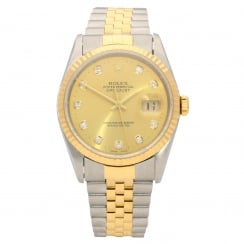 Datejust 16233 - Steel and Gold - Diamond Dial - 1997