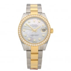 Datejust 178383 - Midsize Watch - Diamond Bezel & Dial - 2018
