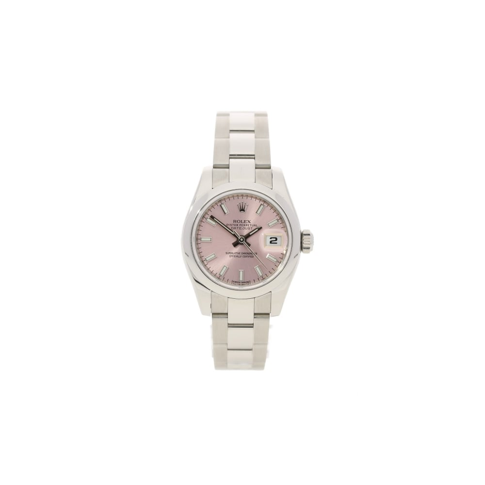 rolex datejust 179160 pink dial ladies second hand watch 2013. Black Bedroom Furniture Sets. Home Design Ideas