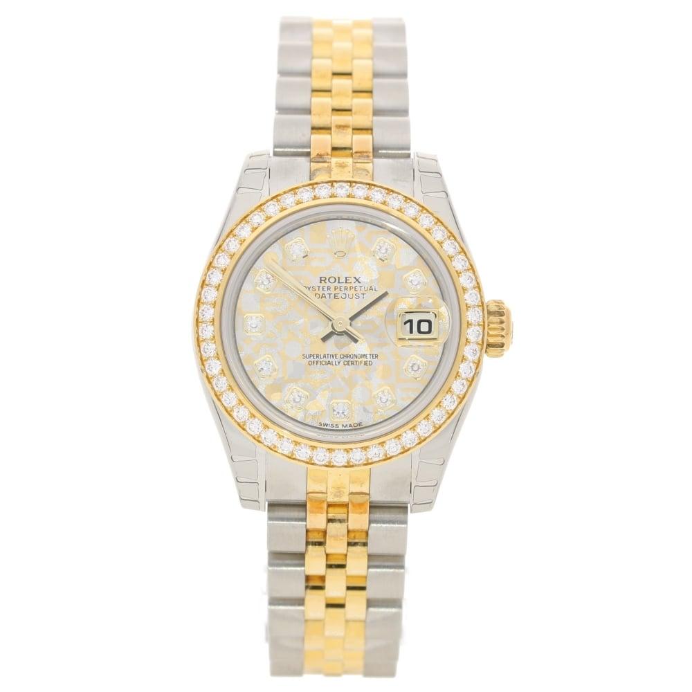 Rolex Datejust 179383 , Gold Diamond Bezel \u0026 Dial , Unworn 2017