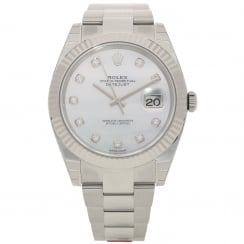 Datejust 41 126334 - Gents Watch - Diamond Dial - 2018 Unworn