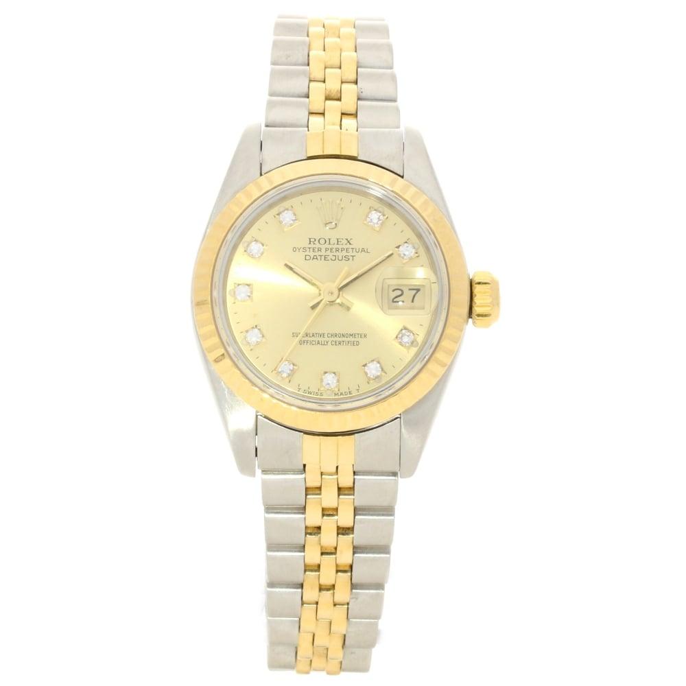 Datejust 69173 Ladies 26mm Watch Diamond Dial 1990