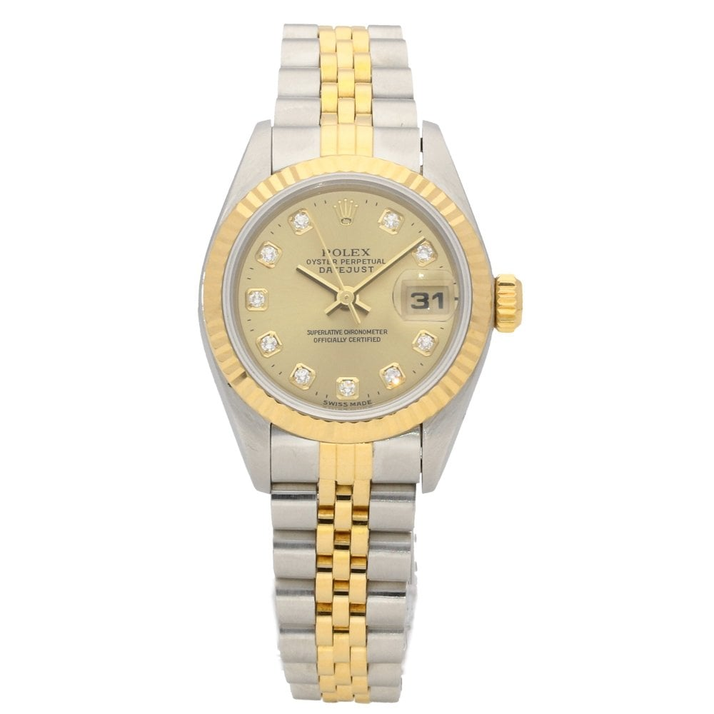 Rolex Datejust 69173 Ladies Watch Diamond Dial 1998