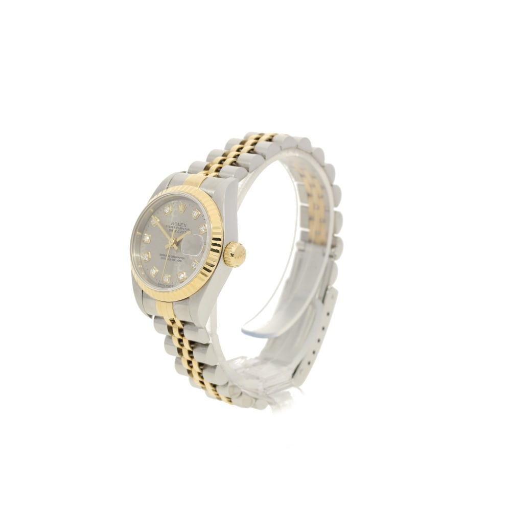 Rolex datejust 69173 ladies watch diamond jubilee dial 1995 for Jubilee watch