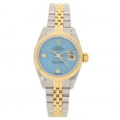 Datejust 69173 - Ladies Watch - Turquoise Diamond Dial - 1998