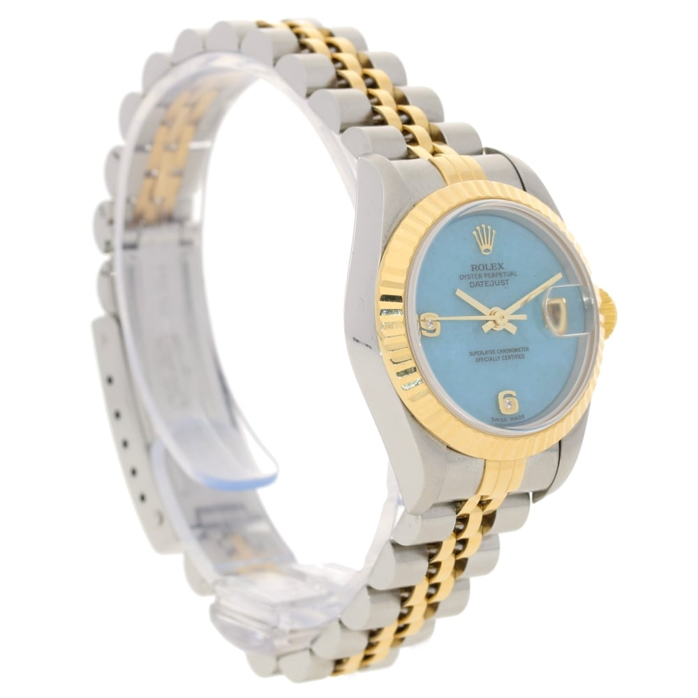 afbfbb5158300 Rolex Datejust 69173 - Ladies Watch - Turquoise Diamond Dial - 1998