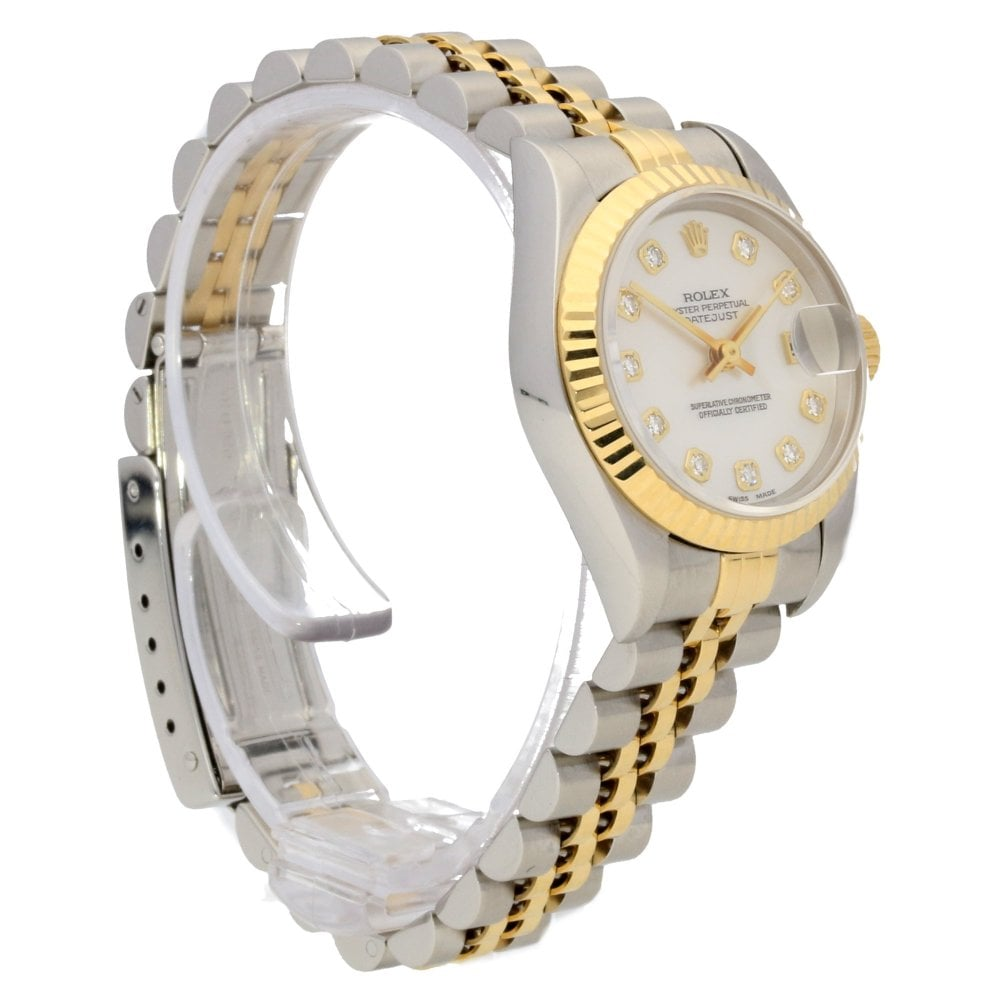 6519c6f982bf6 Rolex Datejust 69173 - Mother Of Pearl   Diamond Dial - 1998 ...