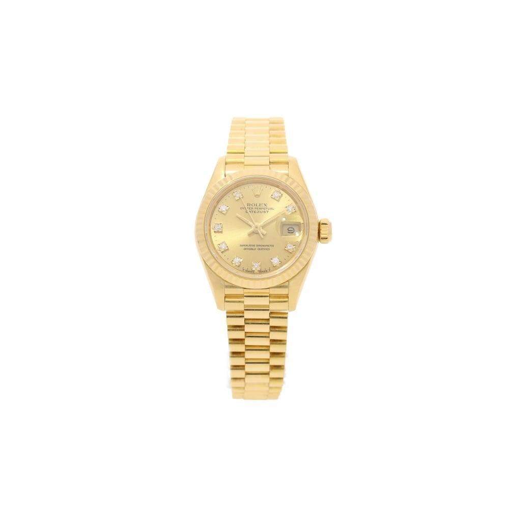 Rolex Datejust 69178 18ct Gold Ladies Second Hand Watch 1992
