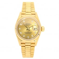 Datejust 69178 - Gold Ladies Watch - Diamond Dial - 1994