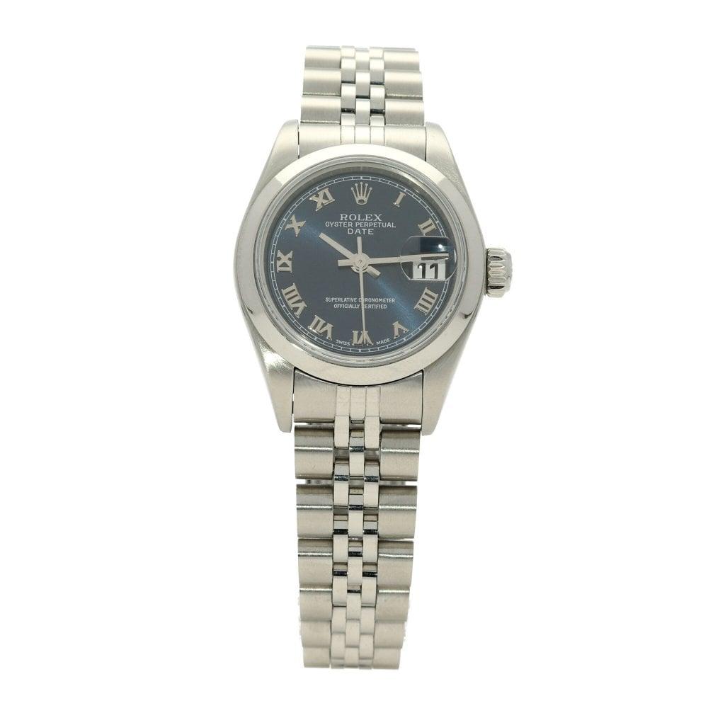 c377a9a0c 2004 Womens Rolex Datejust 79160 - Blue Roman Dial - Miltons Daimonds