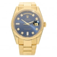 Day-Date 118208 - Gents Gold Watch - Diamond Dial - 2002