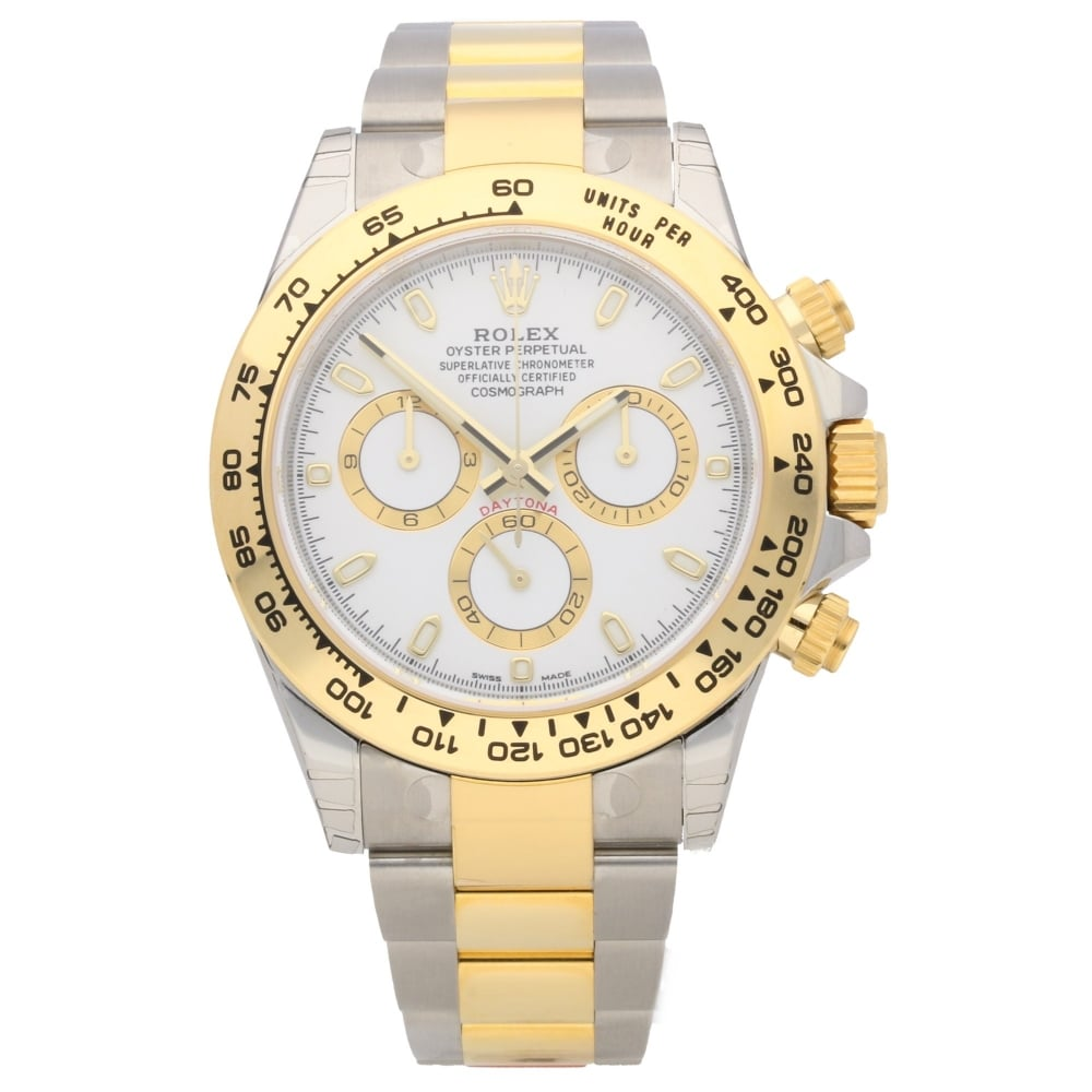 rolex daytona 116503 gents watch white dial unworn. Black Bedroom Furniture Sets. Home Design Ideas