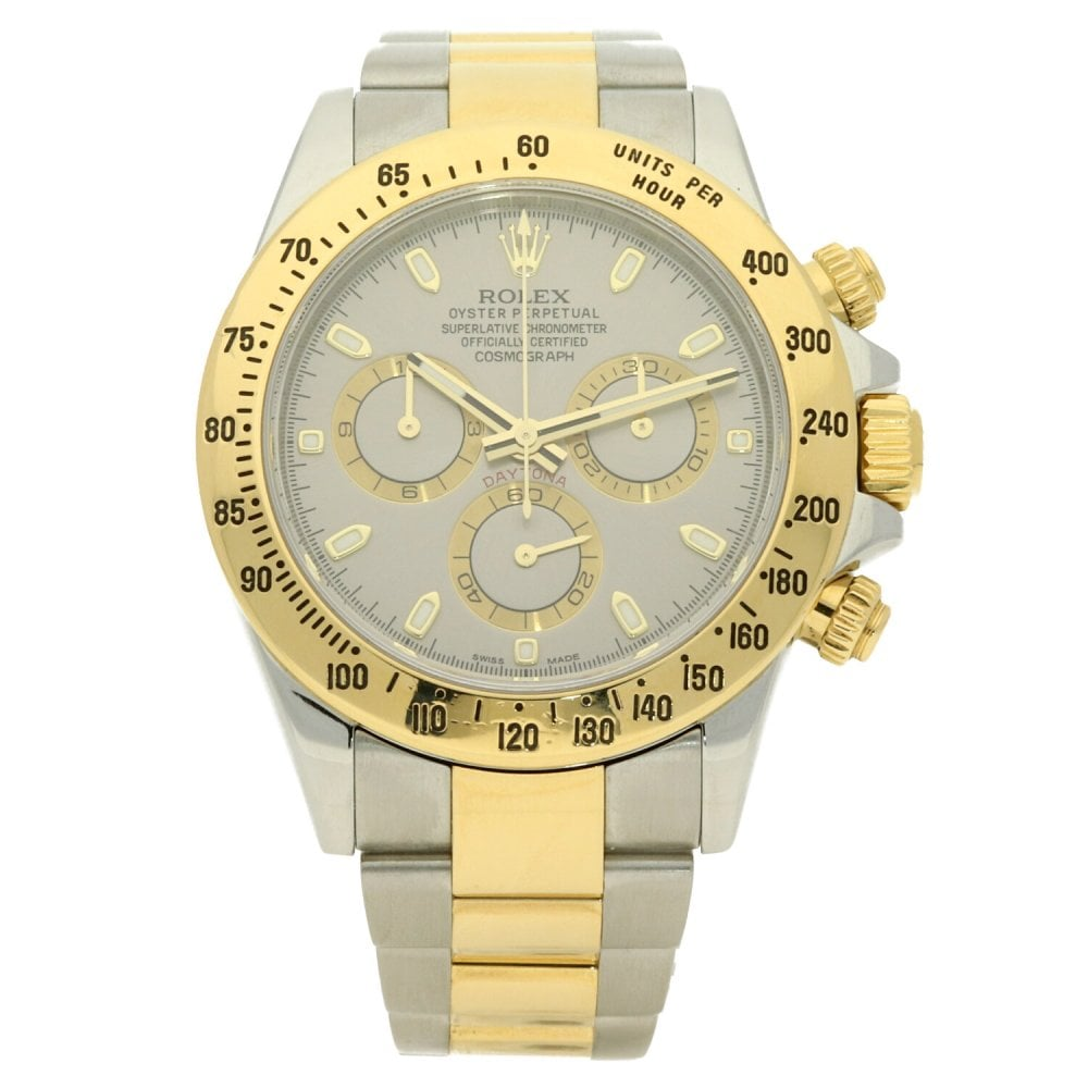 Rolex Daytona 116523 Steel And Gold Silver Dial 2015 Miltons