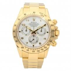 Daytona 116528 - Gold Gents Watch - Mother of Pearl Dial - 2010