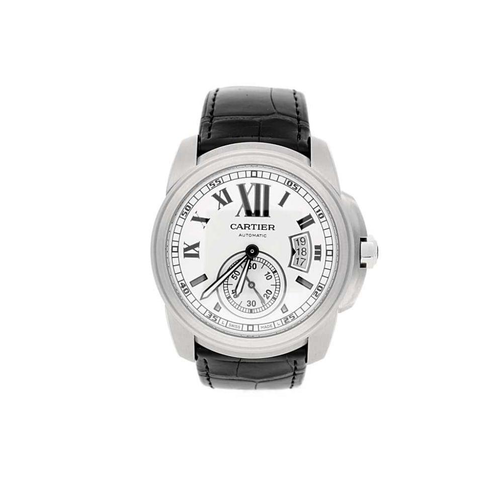 second hand calibre de cartier watch 3389 watches miltons diamonds. Black Bedroom Furniture Sets. Home Design Ideas