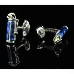 Deakin and Francis Blue Golf Bag Cufflinks