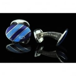 Deakin and Francis Blue Oval Cufflinks