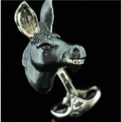 Deakin and Francis Silver Donkey Cufflinks