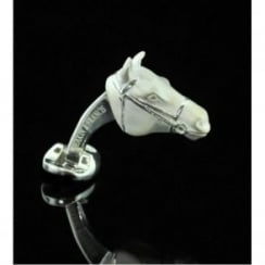 Deakin and Francis Silver Horses Head Cufflinks
