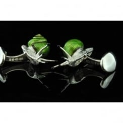Deakin and Francis Silver Snail Cufflinks