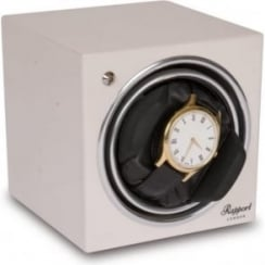 Evo Cube Watch Winder in Glacier White