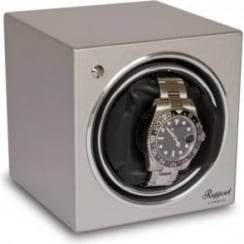 Evo Cube Watch Winder Platinum Silver