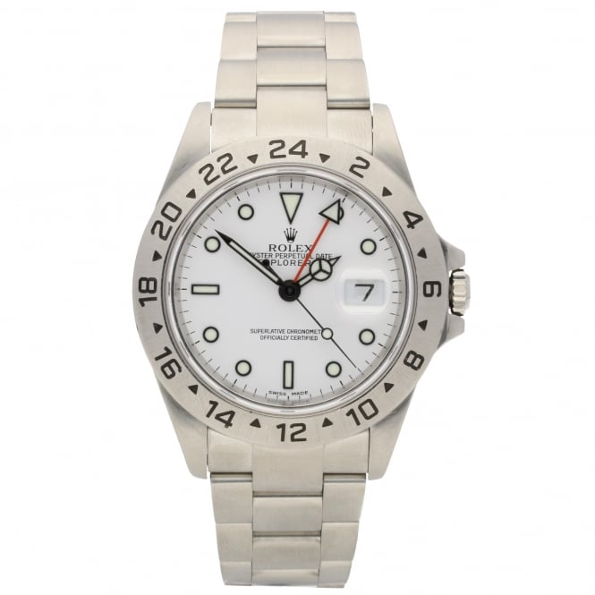 Rolex Explorer II 16570 - Gents Watch - White Dial - 2003