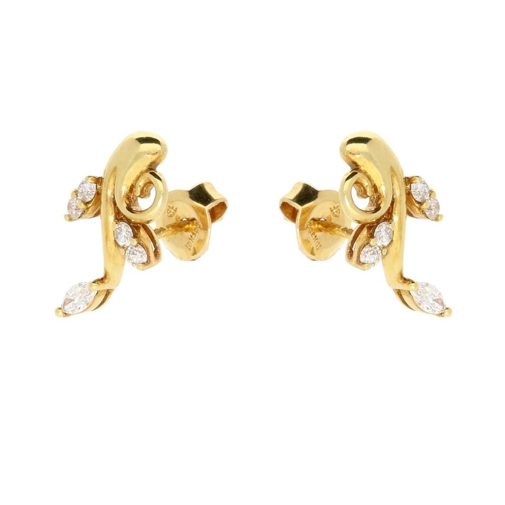 4c40257c10623 Miltons Diamonds Fancy 18ct Yellow Gold Diamond Earrings 0.35ct