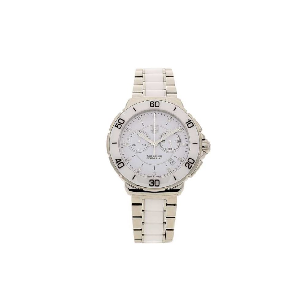 eca8e6a1c4a 2016 Tag Heuer Formula 1 CAH1211 - White Ceramic & Steel - Diamonds