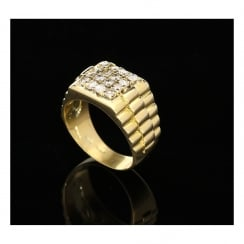 Gent's 14ct Gold 0.75ct Diamond Ring