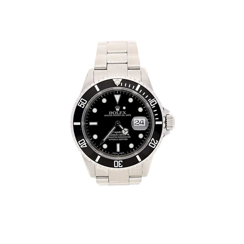 circa 1998 gents pre owned rolex submariner date 16610 miltons. Black Bedroom Furniture Sets. Home Design Ideas