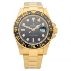 GMT Master II 116718LN - Gold Gents Watch - Black Dial - 2009