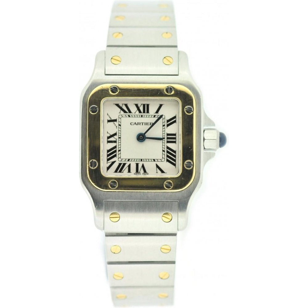 1de9e7c1bdcd4 Cartier Ladies Pre Owned Cartier Santos 1567 Watch - Watches from ...