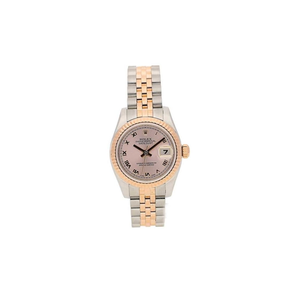 lady 39 s second hand rolex datejust 179171 steel and rose gold. Black Bedroom Furniture Sets. Home Design Ideas