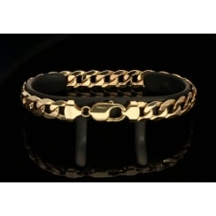 Men's 9ct Yellow Gold Curb Bracelet - 30.50g