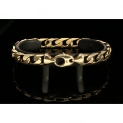 Men's 9ct Yellow Gold Curb Bracelet - 32.0g